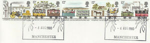 (89165) GB Used Liverpool & Manchester Railway 1980 ON PIECE
