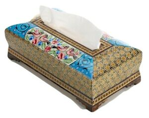 LPUK Wooden Khatam Tissue BOX Exquisite Persian Art 26×14×10 cm