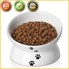 New listing Ceramic Raised Cat Food Bowl Titled Elevated Protect Spine Dog Cat Pet Food Dish