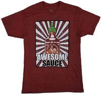 Tuong Ot Sriracha Mens Red Short Sleeve Awesome Sauce Hot Chilli Sauce T-Shirt