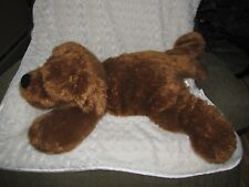 ANIMAL ADVENTURE 2014 STUFFED PLUSH CHOCOLATE BROWN PUPPY DOG BIG HUGE LARGE