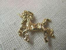 Vintage gold tone Charm Unicorn