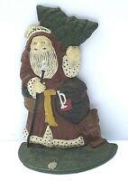 Antique Cast Iron Christmas Santa Claus Hand Painted Vtg. Doorstop Door Stop art