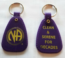 NARCOTICS ANONYMOUS - NA - DECADES  PURPLE  KEY TAG - 20+ yr clean
