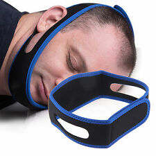 Anti Snore Aid Sleep Apnea Stop Snoring Strap Belt Jaw Solution Chin Support UK