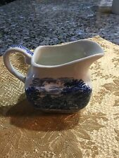 Liberty Blue Staffordshire Ironstone Paul Revere Creamer