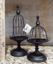 NEW 2 Cage Stand Candle Holders Gothic Black
