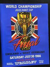 1966 WORLD CUP FINAL PROGRAMME REPLICA ENGLAND V GERMANY