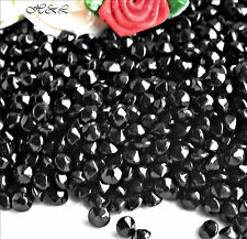 40 x Vintage ss20 JET BLACK Fire Polished Glass CRYSTAL CHATONS Unfoiled 20ss
