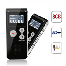 Portable Rechargeable Activated Digital Voice Recorder 8GB USB MP3 Player LCD