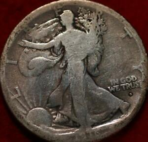 1916-D Denver Obverse Mint Silver Walking Liberty Half