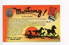 Great West True Stories Mustang Curt Teich Postcard