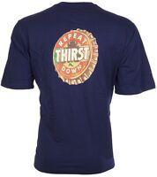 TOMMY BAHAMA Mens T-Shirt REPEAT THIRST DOWN Football NAVY Beer Cap XL-3XL $45