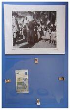 Benito Mussolini in Sardegna a Iglesias duce fascismo quadro cornice vetro