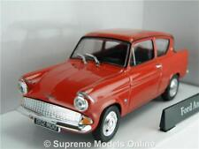 FORD ANGLIA MODEL CAR RED 1:43 SIZE 1960'S 105E 2 DOOR SALOON RO1