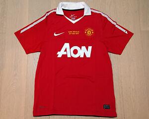2010-11 Manchester United Home Shirt S/S (Gary Neville Testimonial) size M