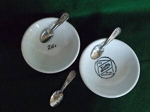 🎄 ZILE'S ICE CREAM ~ 2 PLTs SAUCERS ~ 3 SPOONS ~ Taneytown, Westminster ~ MD🎄