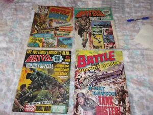 JOB LOT 4 BATTLE PICTURE WEEKLY SUMMER / HOLIDAY SPECIALS,1978,1979,1980,1989.