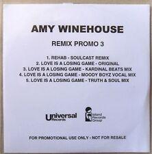 AMY WINEHOUSE * REMIX PROMO 3 * UK 5 TRK PROMO * HTF! * BACK TO BLACK