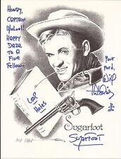 WILL HUTCHINS Hand Signed 8 1/2x11 Drawing - Sugarfoot - Free S/H in the US