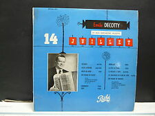 "EMILE DECOTTY 14 juillet ST 1063 25 cms 10"" MUSETTE ACCORDEON"