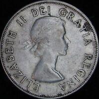 1953 SD Small Date VF+++ (XF-) Canada Silver 50 Cents (Half) - KM# 53 - JG