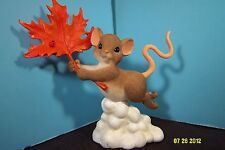 Charming Tails Mouse-You Blow Me Away- Mouse W/Leaf Figurine-New In Box