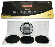 Haida PRO II (PROII) SLIM 52mm Neutral Density (3, 6 & 10 Stop) Filter Pack WIDE