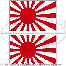 Japon soleil levant drapeau japonaises vinyle autocollants sticker 75mm x2