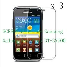 3x Glossy CLEAR Screen Protector Guard Film for Samsung Galaxy Ace Plus GT-S7500