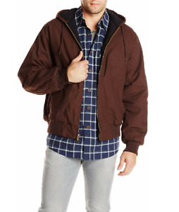 XL Dickies Men's Sanded Duck Insulated Jacket Chocolate Brown NWT