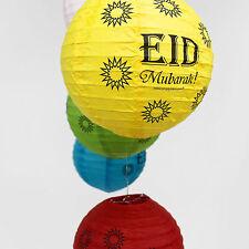 Eid Mubarak 8'' Paper Lanterns (5 Pack) Decorations Ramadan Islam Party Lights