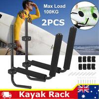 2x 100KG Kayak Storage Rack Carrier Watercraft Paddle Surfboard Holder Wall AU