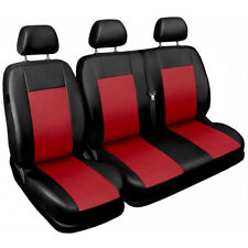 Van seat covers fit Mercedes Vito  1+2 Leatherette black/red