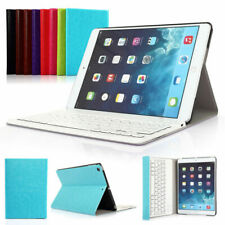 UK For iPad 2 3 4 Wireless Bluetooth QWERTY Keyboard With Smart Stand Case Cover