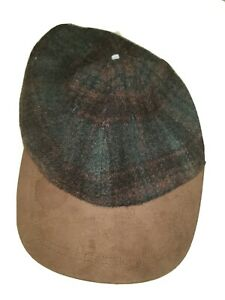 Vintage Gap Beret Brimmed Hat Wool Browns S/M Clip Back