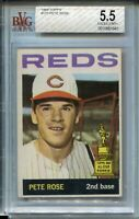 1964 Topps Baseball Card #125 Pete Rose All-Star Rookie Graded BVG EX 5.5