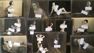 Set Of 13 Antique Nude Female Photographs. Art Deco Lesbian Interest.