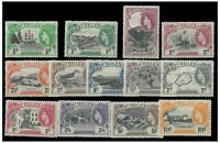 St. Helena 1953 QEII Pictorial Set of 13 Stamps To 10/- SG153/65 MLH 10-14