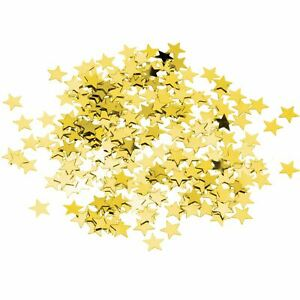 Gold Star Bday Glitz Table Confetti Scatter Party Celebration Decorations