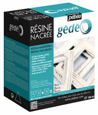 PEBEO GEDEO PEARL WHITE RESIN & HARDENER 150ml KIT PEARLESCENT MODELMAKING CRAFT