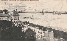 AK Bonn - Cafe Royal  und Blick auf die Rheinbrücke / gelaufen 1913