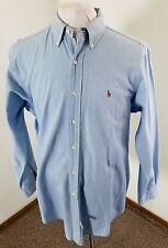 Vintage Men's RALPH LAUREN L/S Button-Down Shirt Denim Blue Chambray Size Large!