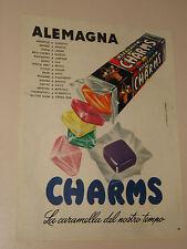 CHARMS ALEMAGNA CARAMELLE=ANNI '50=PUBBLICITA=ADVERTISING=WERBUNG=450