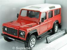 LAND ROVER DEFENDER MODEL CAR 1:43 RED LWB CARARAMA 4X4 ISSUE 250ND K8Q