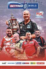 2020 World Matchplay Darts Programme Milton Keynes Behind Closed Doors