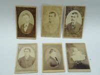 LOT of 6 x ANTIQUE PHOTOGRAPHS  CABINET CARD CHILDREN, WOMEN & MEN