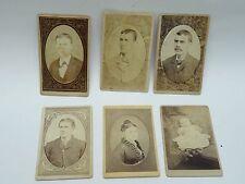 LOT of 6 x ANTIQUE PHOTOGRAPHS  CABINET CARD CHILDREN, WOMEN & MEN