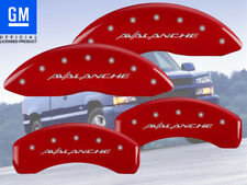 """2002-2006 Chevy """"Avalanche"""" 2500 Front + Rear Red MGP Brake Disc Caliper Covers"""