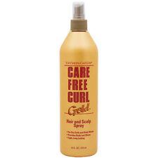 Softsheen Carson Care Free Curl Gold Hair & Scalp Spray Long Lasting 16 fl oz